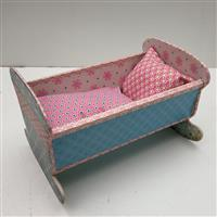Puppenwiege rosa-blau