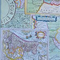 Schubladenkommode Landkartenmosaik